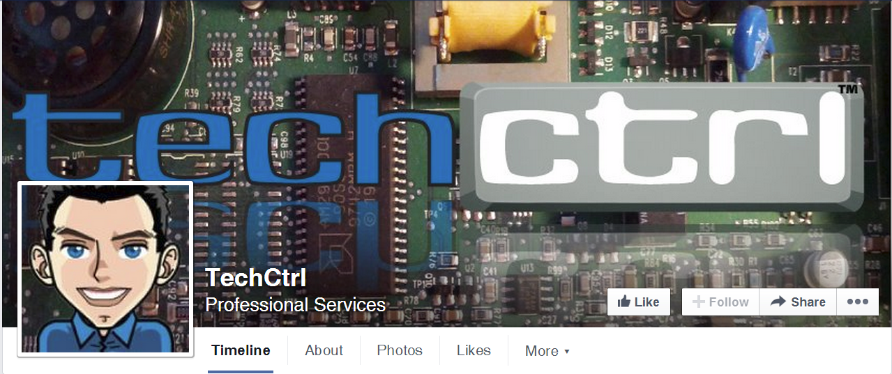 TechCtrl Facebook Cover/Profile Image