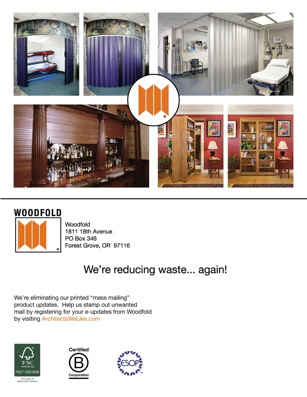 Woodfold Jumbo Postcard Mailer
