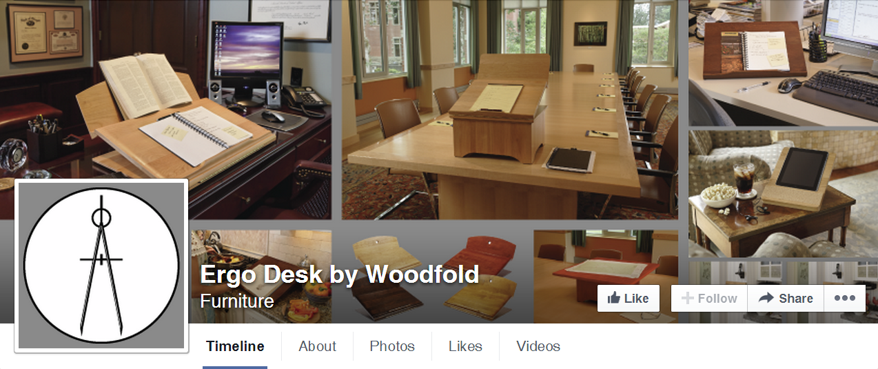 Ergo Desk Facebook Cover/Profile Image