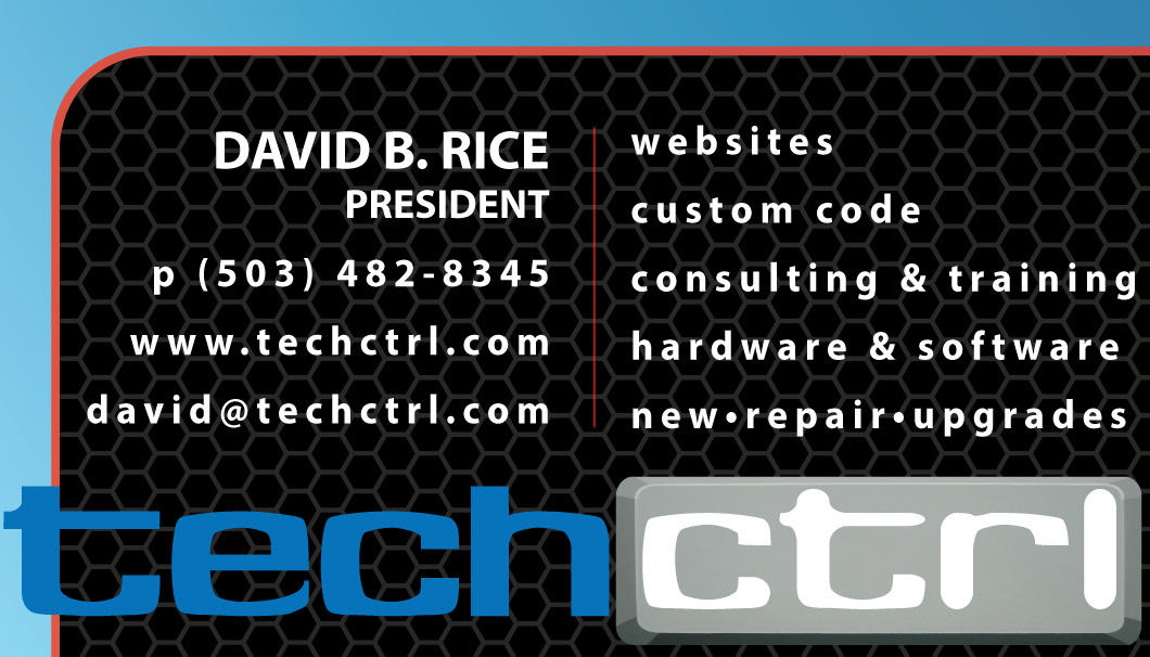 TechCtrl Business Card